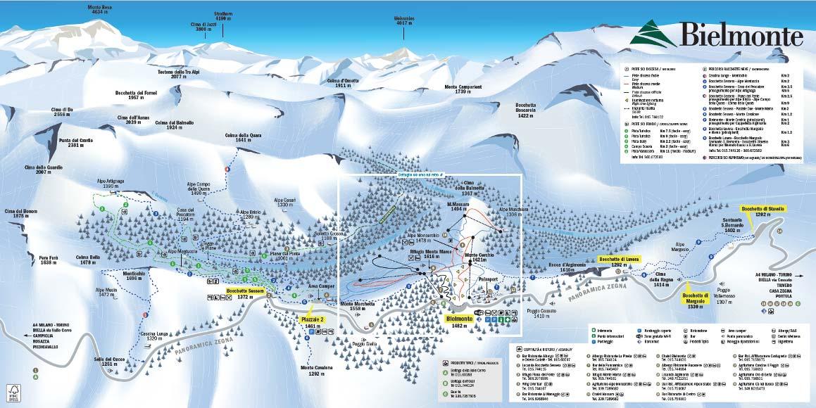 oasi zegna - cartina bianca