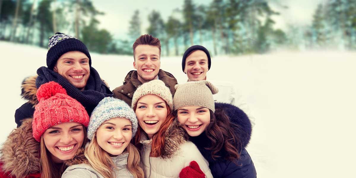 oasi zegna con gli amici inverno