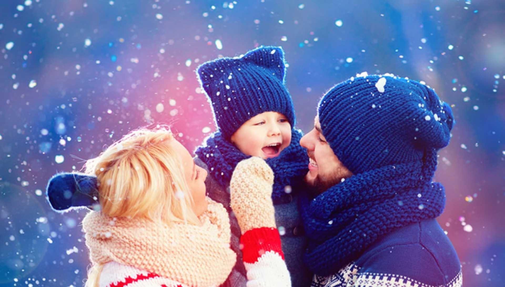 oasi zegna con la famiglia in inverno