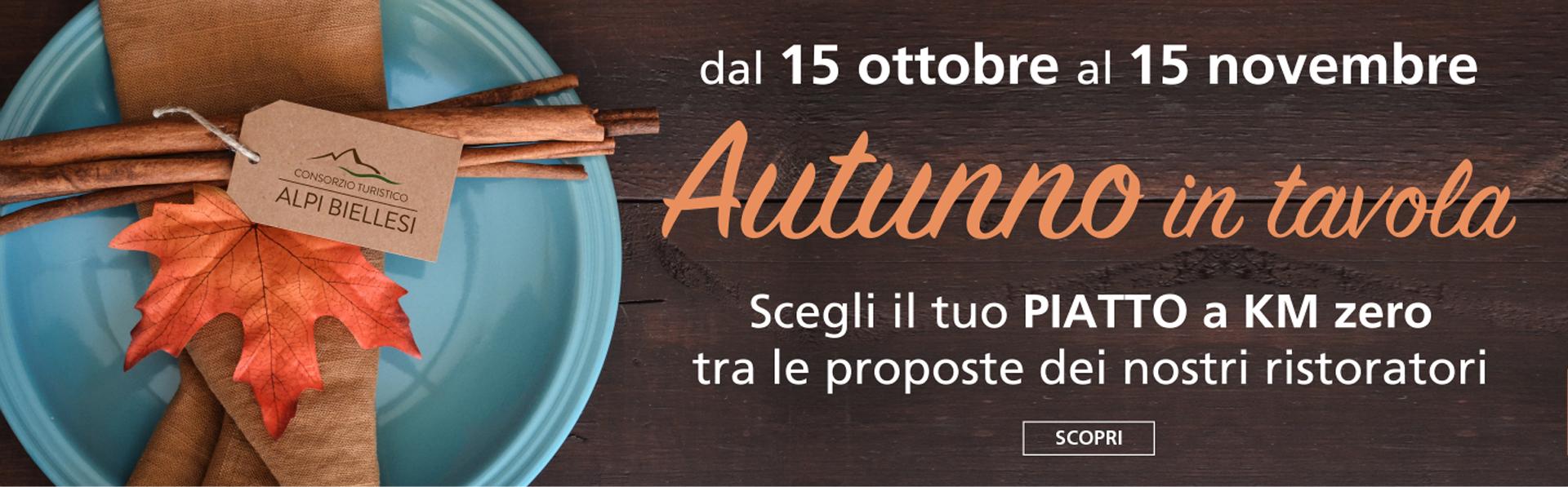 Autunno in tavola dal 15 ottobre al 15 novembre